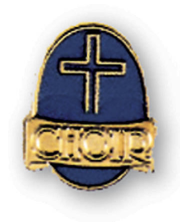 Choir Pin Cross on Blue Field