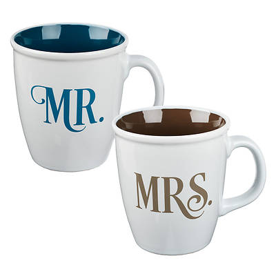 Picture of Mug Set 2 Piece Mr and Mrs
