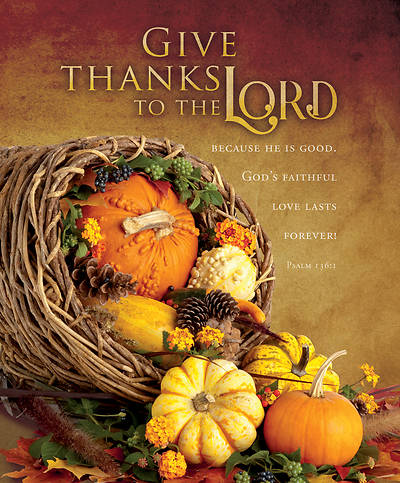 Picture of Give Thanks to The Lord Psalm 136:1 Bulletin Legal