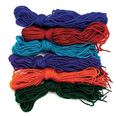 Vacation Bible School (VBS) 2017 Mighty Fortress Tipped Yarn Laces.