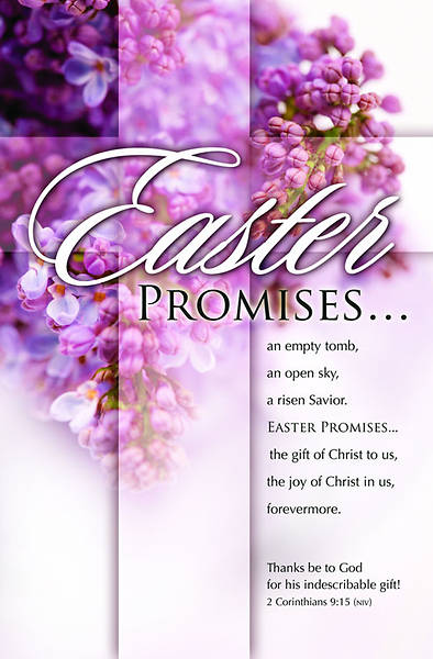 Easter Promises/Easter Bulletin, Regular (Package of 100)