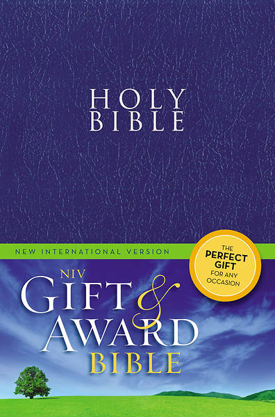 Gift and Award Bible NIV (Blue Leather-like)