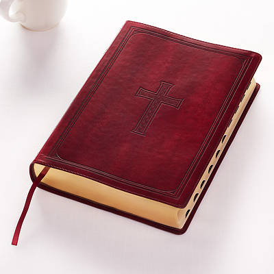 Picture of KJV Super Giant Print Lux-Leather Burgundy