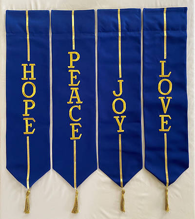 Picture of Advent Wreath Banners - Blue and Gold