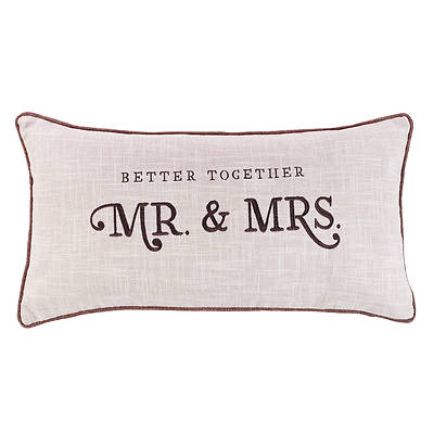 Picture of Better Together - Mr. & Mrs. Rectangular Pillow