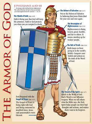 Armor Of God Wall Chart - Laminated