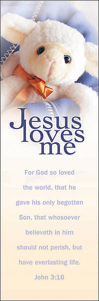 Children-Jesus Loves Me Bookmark