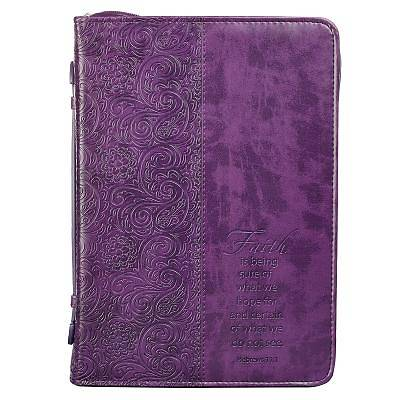Picture of Bible Cover Xlarge Luxleather Purple/Faith