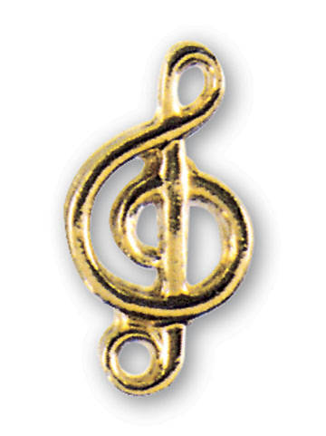 Pin Musicians Gold G Clef
