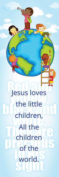 Bookmark - Jesus Loves the Little Children - Matthew 18:5 (Pk 25)