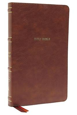Nkjv, Thinline Bible, Leathersoft, Brown, Thumb Indexed, Red Letter Edition, Comfort Print
