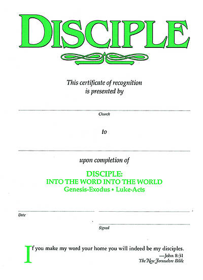 Picture of Disciple II Into the Word Into the World: Certificates (Pkg of 6)
