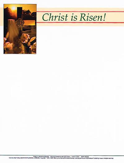Picture of Christ is Risen Easter Sunrise Bulletin, Letterhead (Package of 50)