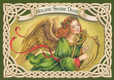 Irish Angel Harp Boxed Christmas Cards