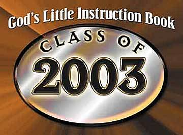 Gods Little Instruction Book for the Class of 2003