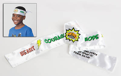 Vacation Bible School VBS Hero Central Colorize-Your-Own Tie-On Headbands (Pkg of 12)