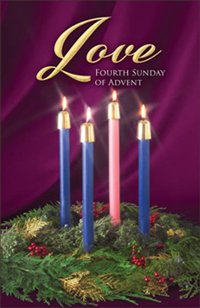 love fourth sunday of advent candle wreath regular size. Black Bedroom Furniture Sets. Home Design Ideas