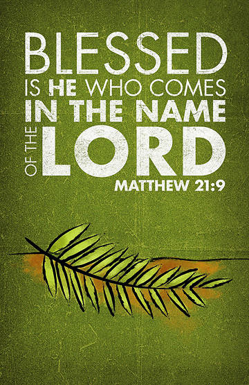 Matthew 21:9 Palm Sunday Banner with Palm Branch 3x5