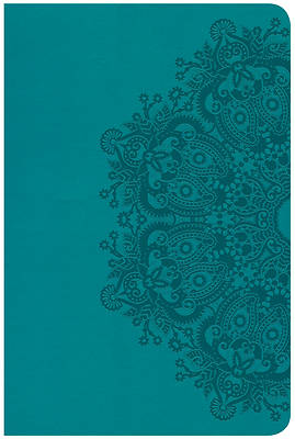 Picture of CSB Compact Ultrathin Reference Bible, Teal Leathertouch