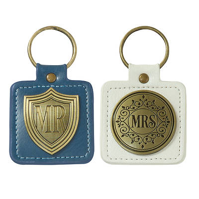 Picture of Keyring Set 2 Piece Mr and Mrs