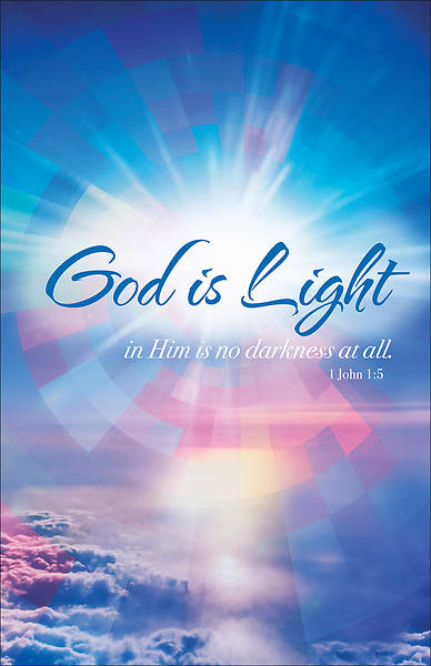 Picture of God is Light General Use Regular Size Bulletin