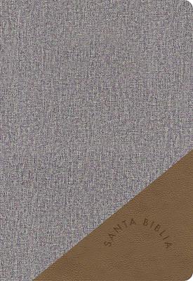 Picture of Rvr 1960 Biblia Letra Grande Tamaño Manual Gris Y Marrón, Símil Piel
