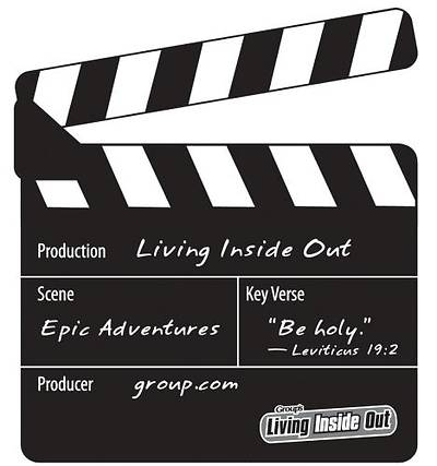Living Inside Out: Epic Adventures Clapboard Magnet Bible Memory Makers (Pack of 5)