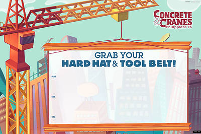 Picture of Vacation Bible School (VBS) 2020 Concrete and Cranes Promotional Poster