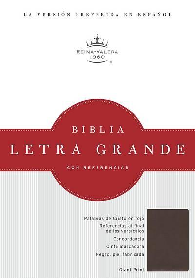 Picture of Rvr 1960 Biblia Letra Grande, Chocolate Simil Piel