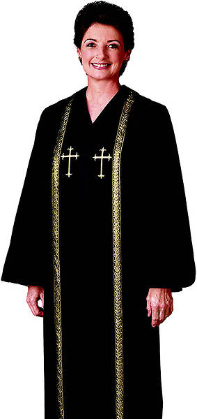 R.T. Wesley Womens Qwick-ship Clergy Robe