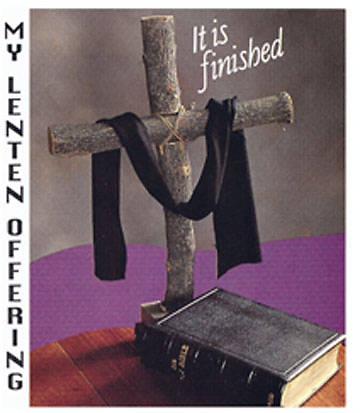 """Completion At Calvary""  $10 Lent Coin Folder (Package of 50)"