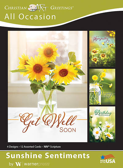 Picture of Sunshine Sentiments All Occasion Boxed Cards (Box of 12)
