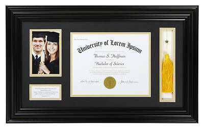 Picture of Graduation Photo Frame - Black