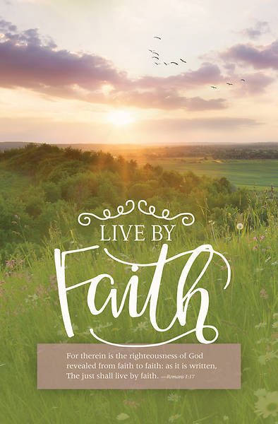 Live By Faith General Regular Size Bulletin