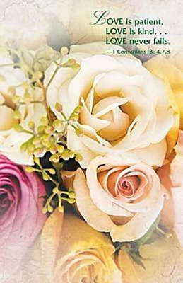 Wedding/Pale Roses Bulletin (Pkg of 50)