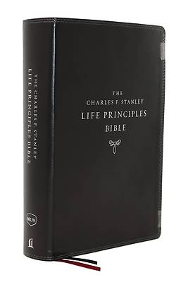 Picture of Nkjv, Charles F. Stanley Life Principles Bible, 2nd Edition, Leathersoft, Black, Indexed, Comfort Print
