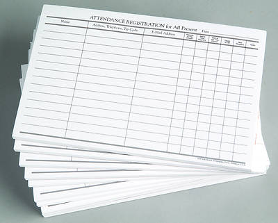 Picture of Attendance Registration Pad (Pkg of 12)