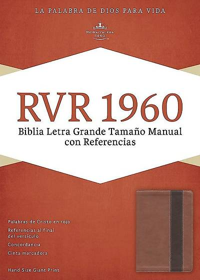 Picture of Rvr 1960 Biblia Letra Grande Tamano Manual Con Referencias, Cobre/Marron Profundo Simil Piel