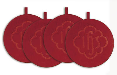 Artistic Offering Plate Mats - Red