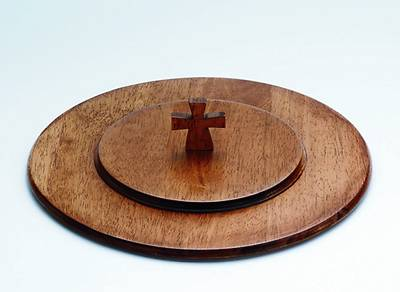 Maple Communion Tray Cover - Antique Finish