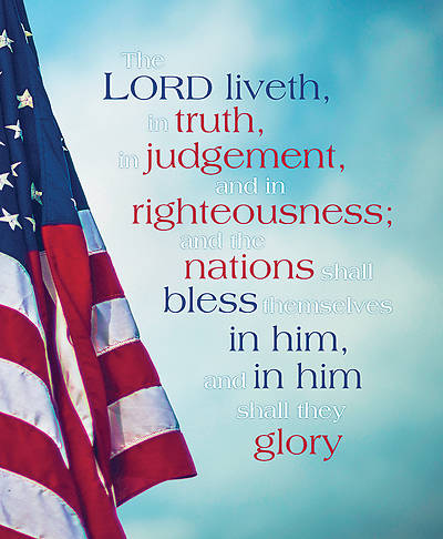 Picture of The Lord Liveth in Truth Patriotic Legal Size Bulletin