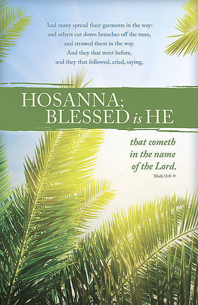 Picture of They Went Before Palm Sunday Bulletin