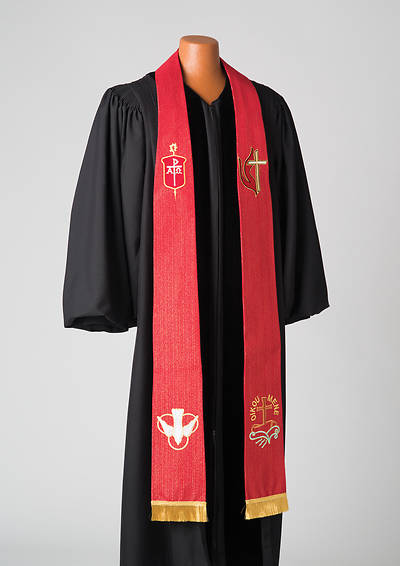 Picture of Bishop's Red Lurex Stole