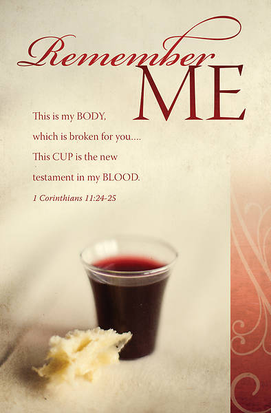 Picture of Remember Me Communion Bulletin