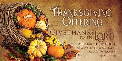 Picture of Give Thanks to The Lord Psalm 136:1 Offering Envelope