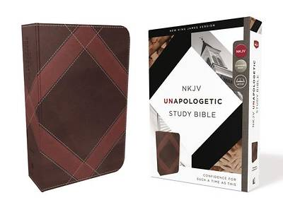NKJV, Unapologetic Study Bible, Imitation Leather, Brown, Red Letter Edition