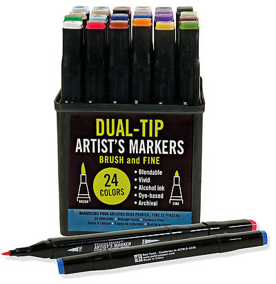 Picture of Studio Series Dual-Tip Alcohol Markers, Set of 24