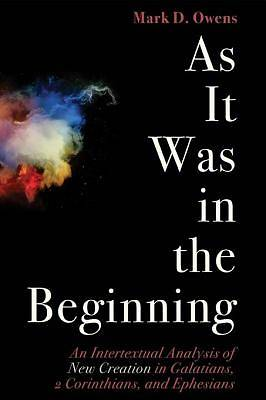 As It Was in the Beginning [ePub Ebook]