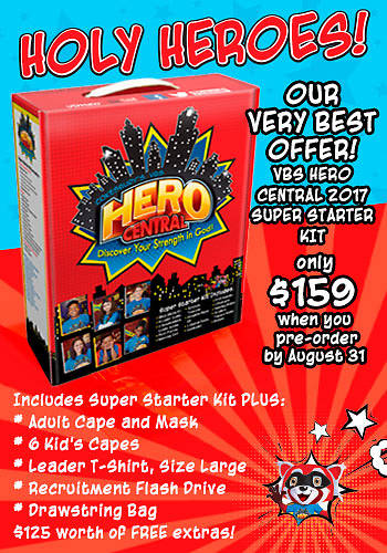 Vacation Bible School 2017 VBS Hero Central Kick Off Kit
