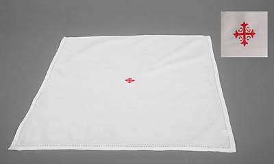 Picture of Cambric Linen Corporal with Red Cross and Vine - Pack of 3